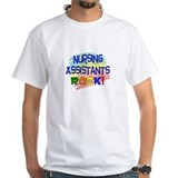 Certified nursing assistant Mens White T-shirts