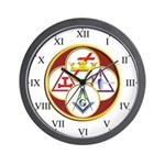 Masonic York Rite Wall Clock