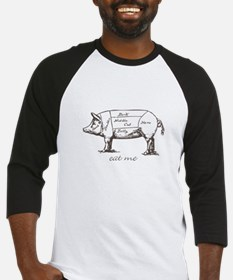 Eat Me Pork Dark Baseball Jersey