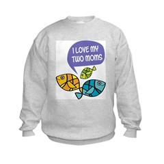 Fish: Two Moms Sweatshirt