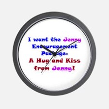 Jenny Encourage Package Wall Clock