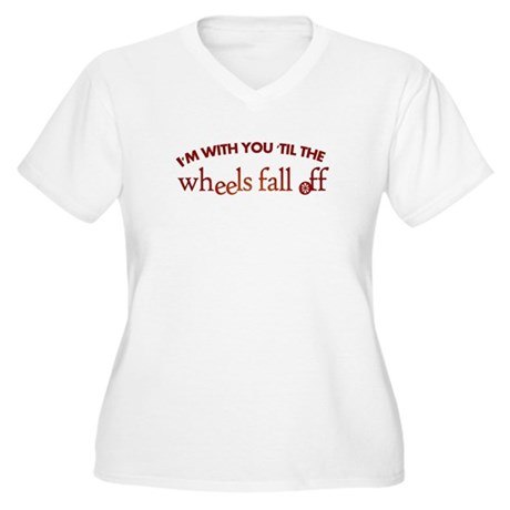 """'Til the Wheels Fall Off"" Women's Plus Size V-Nec"