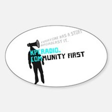 Cute Community radio station Sticker (Oval)