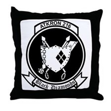 VA-216 Black Diamonds Throw Pillow