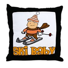 "Ski Baby ""Joshua"" Throw Pillow"