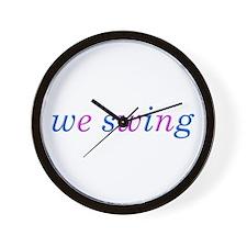 we swing Wall Clock