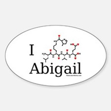 I love Abigail Oval Decal