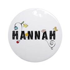 Hannah Floral Ornament (Round)