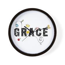 Grace Floral Wall Clock