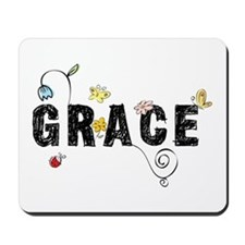 Grace Floral Mousepad
