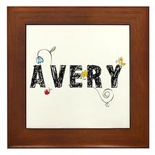Avery Floral Framed Tile