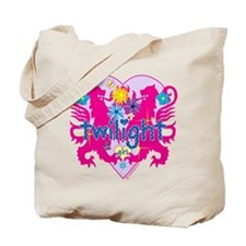 Twilight Girl Hearts and Flowers Tote Bag