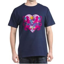 Twilight Girl Hearts and Flowers T-Shirt