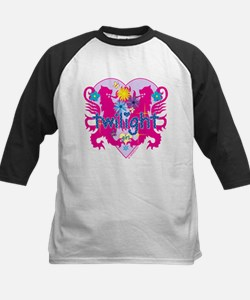 Twilight Girl Hearts and Flowers Kids Baseball Jer