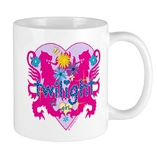 Twilight Girl Hearts and Flowers Mug