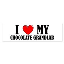 Chocolate Grandlab Bumper Bumper Sticker