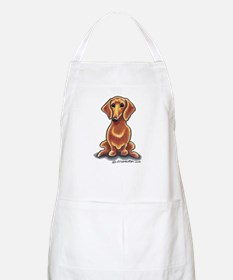 Smooth Red Dachshund Apron