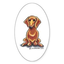 Smooth Red Dachshund Decal