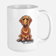 Smooth Red Dachshund Large Mug