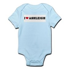 I LOVE ASHLEIGH ~  Infant Creeper