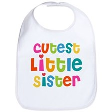 Cutest Little Sister Bib