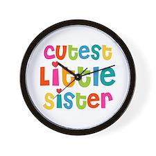 Cutest Little Sister Wall Clock