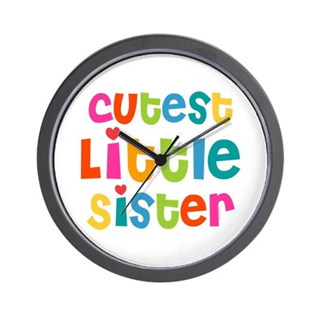 Cutest Little Sister Wall Clock