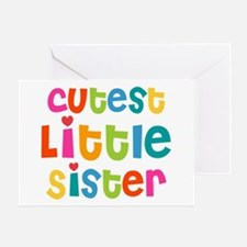 Cutest Little Sister Greeting Card