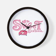 Sweet 16 Car Heart Wall Clock