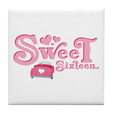 Sweet 16 Car Heart Tile Coaster