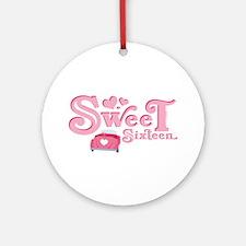Sweet 16 Car Heart Ornament (Round)