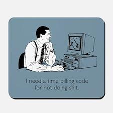 Time Billing Code Mousepad