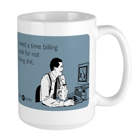 Time Billing Code Large Mug