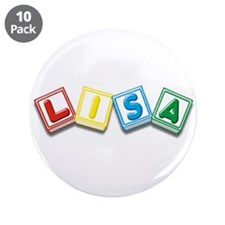 "Lisa 3.5"" Button (10 pack)"
