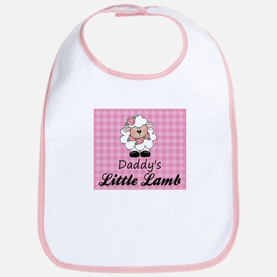 Daddy's Little Lamb Girl's Bib