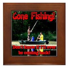 Gone Fishing Framed Tile
