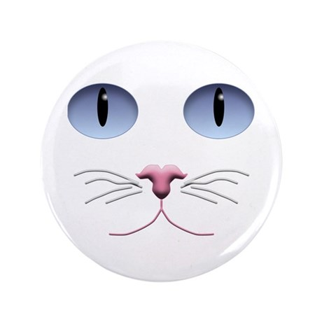 "Cat Face 3.5"" Button"