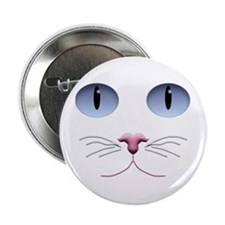 "Cat Face 2.25"" Button (10 pack)"