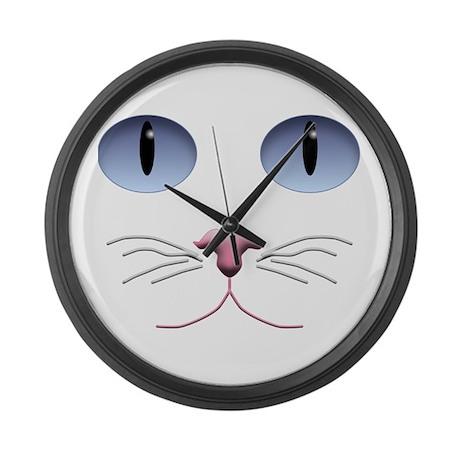 Cat Face Large Wall Clock
