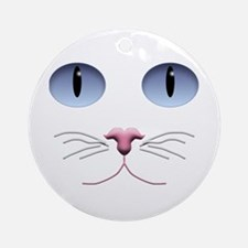Cat Face Ornament (Round)