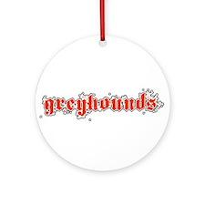 GREYHOUNDS *3* Ornament (Round)