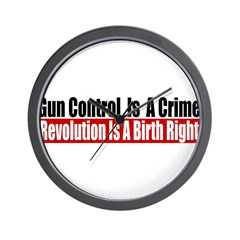Gun Control Is A Crime Wall Clock