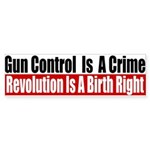 Gun Control Is A Crime Sticker (Bumper 50 pk)