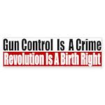 Gun Control Is A Crime Sticker (Bumper 10 pk)
