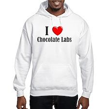 I Love Chocolate Labradors Hoodie