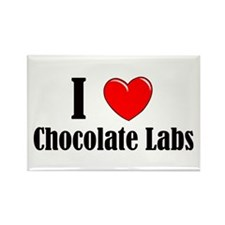 I Love Chocolate Labradors Rectangle Magnet