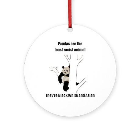 racist pandas Ornament (Round)