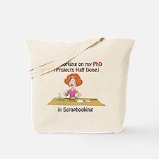 Scrapbooking PhD Tote Bag