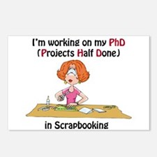 Scrapbooking PhD Postcards (Package of 8)