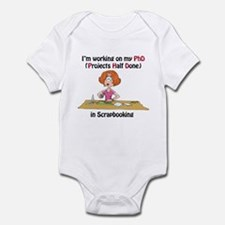 Scrapbooking PhD Infant Bodysuit